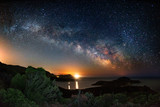Fototapety Milky way on over the Malfatano Cape