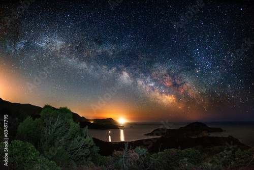 Poszter Milky way on over the Malfatano Cape