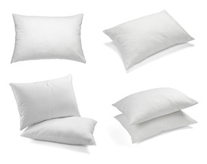 white pillow bedding sleep