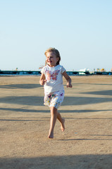 Running little girl