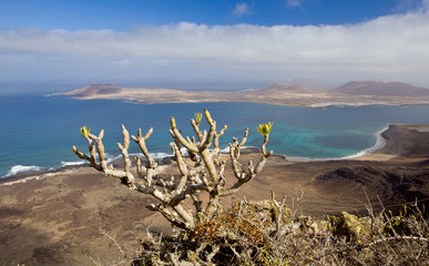 view to isleof  La Graciosa