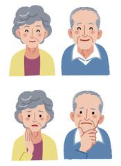 シニア 表情 Elderly couple expression