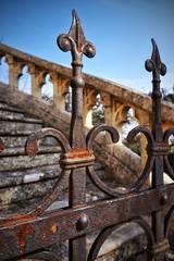 Particolare di un vecchio cancello