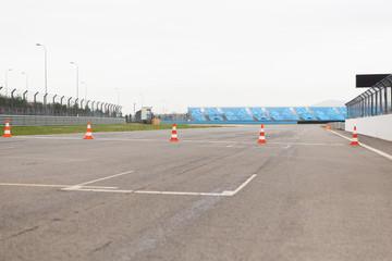 empty speedway on stadium