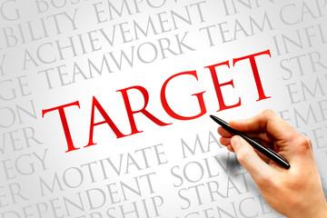 Target word cloud, business concept