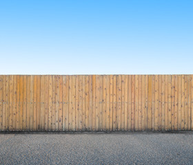 background with wooden fence