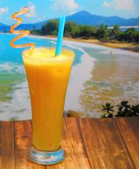 pineapple juice in glass