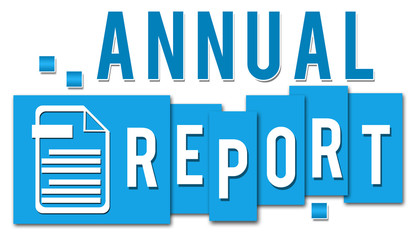 Annual Report Blue Stripes