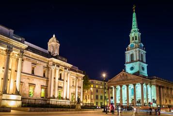 St Martin-in-the-Fields church on Trafalgar Square - London
