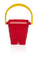 Toy small bucket isolated on white background