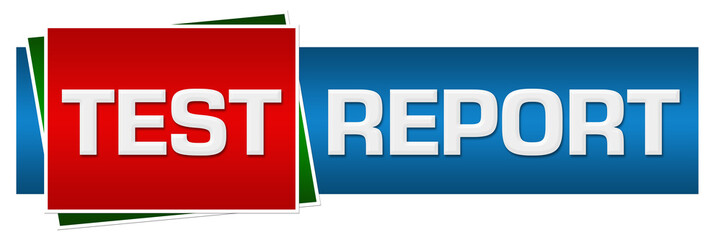 Test Report Red Green Blue Horizontal