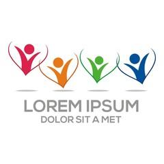 Logo Love Vector People Heart business