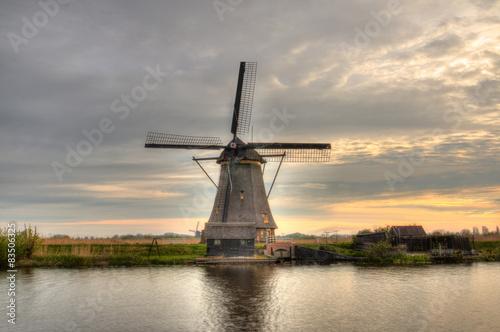 Windmills in Kinderdijk, Netherlands - 83506325