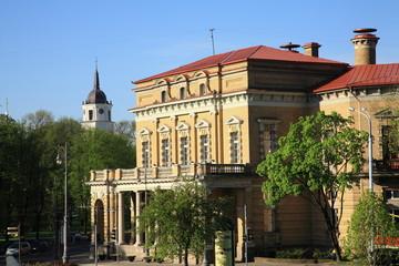 Building in the city center of  Vilnius