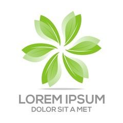 Logo Leaves Vector Organic Natural leaf