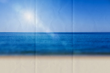 paper sun glare beach
