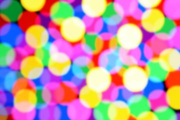 Bunte Lichter in vielen Farben