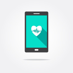 Heart Rate Phone Icon
