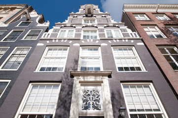 Front of Amsterdam17th century residence building , Netherlands.
