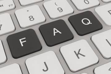Tastatur - häufig gestellte Fragen - schwarz