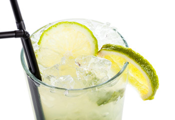 Mojito cocktail close-up