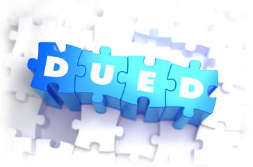 DueD - White Word on Blue Puzzles.