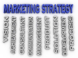 3d image marketing strategy  issues concept word cloud backgroun