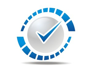 blue check list logo image vector