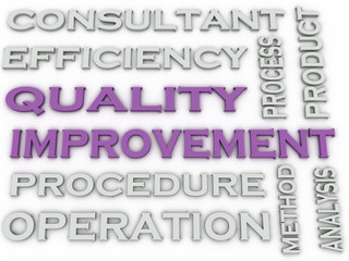3d image Quality improvement   issues concept word cloud backgro