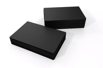 3d blank black business cards