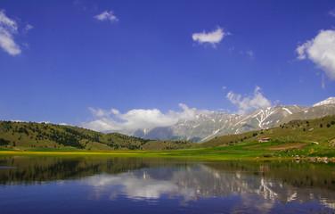 Piccolo lago di Filetto in Abruzzo