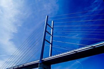 Neue Brücke von Stralsund nach Insel-Rügen