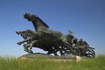 Legendary Tachanka Monument in Kahovka