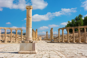 Ancient Jerash Jordan Forum Cardo
