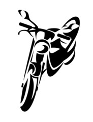 motorcycle black and white design