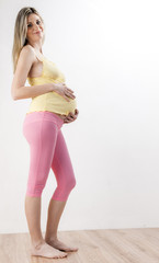 standing pregnant woman