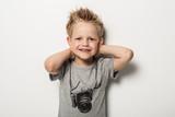 Fototapety Portrait of cute little boy posing