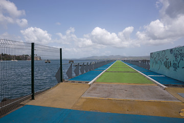 Brücke und Anlegestelle in Fort-de-France, Martinique