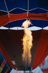flame of hot air balloon