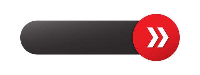 Bouton vecteur blanc avec flèches (rouge)