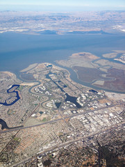 San Francisco, California, United States of America, Agriculture And Cityscape From Above