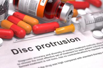 Disc Protrusion Diagnosis. Medical Concept.