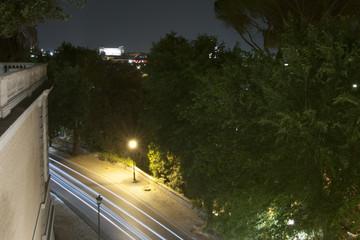 panorama of Rome at night from Pincio