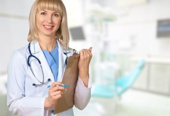 Doctor, Clinic, Clipboard.