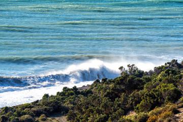 atlantic ocean waves in Patagonia