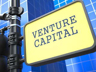Venture Capital on Yellow Roadsign.