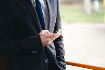 Man Talking on Cell Phone, public transportation