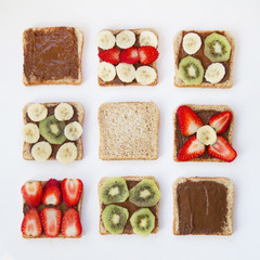 Picture of sandwiches with fruit