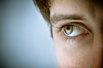 Close-up of man's eye