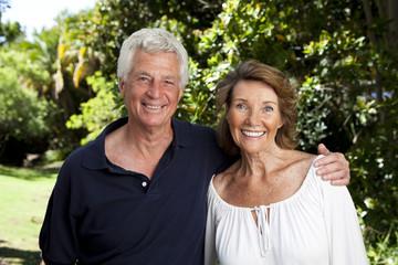 South Africa, Senior couple in garden